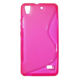 Huawei Ascend G620 - Gumiran ovitek (TPU) - roza-prosojen SLine