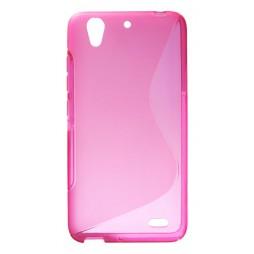 Huawei Ascend G630 - Gumiran ovitek (TPU) - roza-prosojen SLine