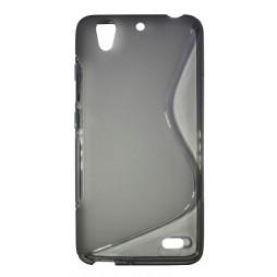 Huawei Ascend G630 - Gumiran ovitek (TPU) - sivo-prosojen SLine