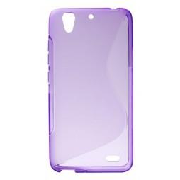 Huawei Ascend G630 - Gumiran ovitek (TPU) - vijolično-prosojen SLine
