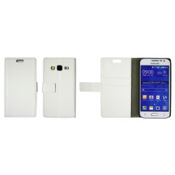 Samsung Galaxy Core Prime - Preklopna torbica (WL) - bela