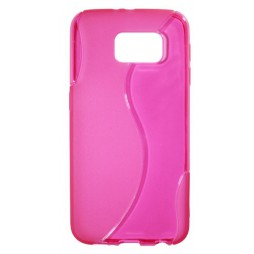 Samsung Galaxy S6 - Gumiran ovitek (TPU) - roza-prosojen SLine