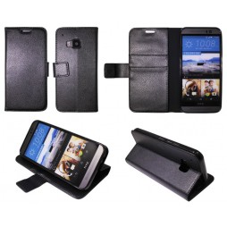 HTC One M9 - Preklopna torbica (WLG) - črna