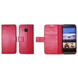 HTC One M9 - Preklopna torbica (WLG) - rdeča