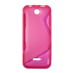 Nokia 225 - Gumiran ovitek (TPU) - roza-prosojen SLine