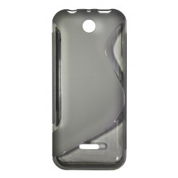 Nokia 225 - Gumiran ovitek (TPU) - sivo-prosojen SLine