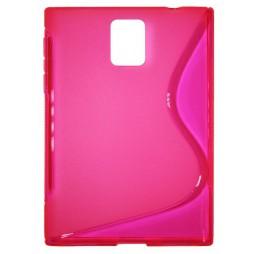 BlackBerry Passport - Gumiran ovitek (TPU) - roza-prosojen SLine