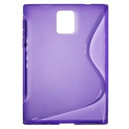 BlackBerry Passport - Gumiran ovitek (TPU) - vijolično-prosojen SLine