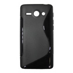 Huawei Ascend Y530 - Gumiran ovitek (TPU) - črn SLine