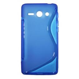 Huawei Ascend Y530 - Gumiran ovitek (TPU) - modro-prosojen SLine