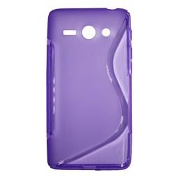 Huawei Ascend Y530 - Gumiran ovitek (TPU) - vijolično-prosojen SLine
