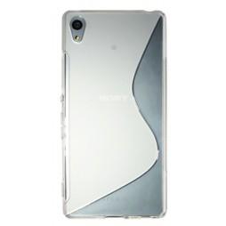 Sony Xperia Z3+ - Gumiran ovitek (TPU) - belo-prosojen SLine
