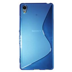 Sony Xperia Z3+ - Gumiran ovitek (TPU) - modro-prosojen SLine