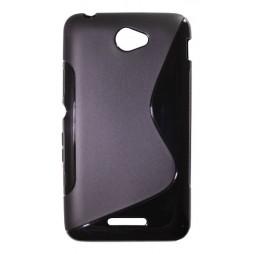 Sony Xperia E4 - Gumiran ovitek (TPU) - črn SLine