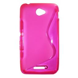 Sony Xperia E4 - Gumiran ovitek (TPU) - roza-prosojen SLine