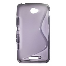 Sony Xperia E4 - Gumiran ovitek (TPU) - sivo-prosojen SLine