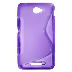 Sony Xperia E4 - Gumiran ovitek (TPU) - vijolično-prosojen SLine