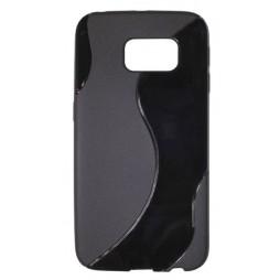 Samsung Galaxy S6 Edge - Gumiran ovitek (TPU) - črn SLine