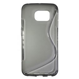 Samsung Galaxy S6 Edge - Gumiran ovitek (TPU) - sivo-prosojen SLine