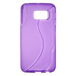 Samsung Galaxy S6 Edge - Gumiran ovitek (TPU) - vijolično-prosojen SLine