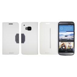 HTC One M9 - Preklopna torbica (47G) - bela