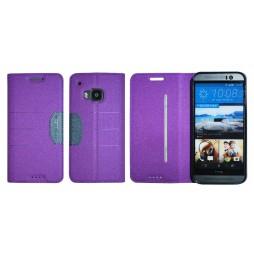 HTC One M9 - Preklopna torbica (47G) - vijolična