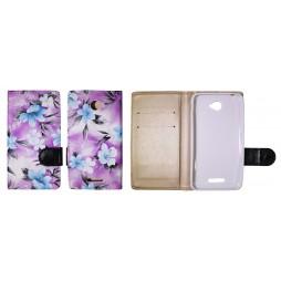 Sony Xperia E4 - Preklopna torbica (64) - vijolična