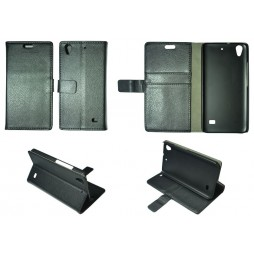Huawei Ascend G620s - Preklopna torbica (WL) - črna