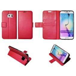 Samsung Galaxy S6 Edge - Preklopna torbica (WLG) - rdeča