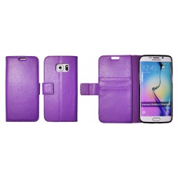 Samsung Galaxy S6 Edge - Preklopna torbica (WLG) - vijolična
