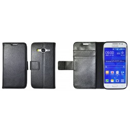 Samsung Galaxy Core Prime - Preklopna torbica (WLG) - črna