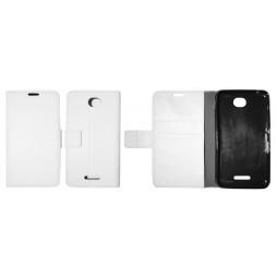 Sony Xperia E4 - Preklopna torbica (WLG) - bela