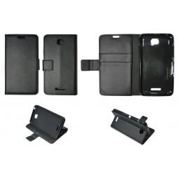 Sony Xperia E4 - Preklopna torbica (WLG) - črna
