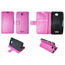 Sony Xperia E4 - Preklopna torbica (WLG) - roza