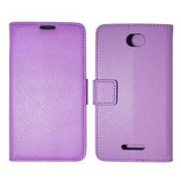 Sony Xperia E4 - Preklopna torbica (WLG) - vijolična