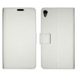 Sony Xperia Z3+ - Preklopna torbica (WLG) - bela