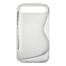 BlackBerry Classic/Q20 - Gumiran ovitek (TPU) - belo-prosojen SLine