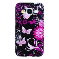 Samsung Galaxy Core Prime - Gumiran ovitek (TPUP) - Pinky flowers dark