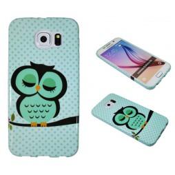 Samsung Galaxy S6 - Gumiran ovitek (TPUP) - Owl