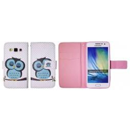 Samsung Galaxy A3 - Preklopna torbica (WLGP) - Blue owl