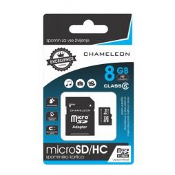 Chameleon Micro SD/HC Spominska kartica 8GB + adapter Class 6