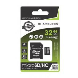 Chameleon Micro SD/HC Spominska kartica 32GB + adapter Class 10