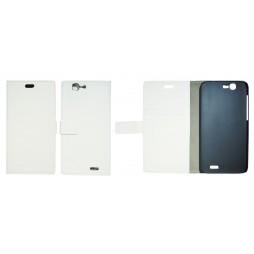 Huawei Ascend G7 - Preklopna torbica (WL) - bela