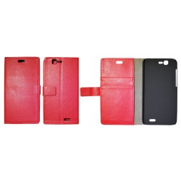 Huawei Ascend G7 - Preklopna torbica (WL) - rdeča