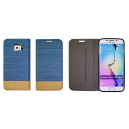 Samsung Galaxy S6 Edge - Preklopna torbica (67G) - svetlo modra
