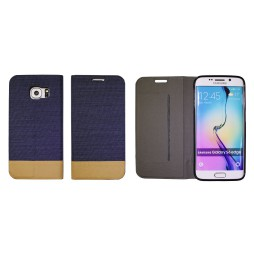 Samsung Galaxy S6 Edge - Preklopna torbica (67G) - temno modra