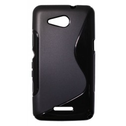 Sony Xperia E4g - Gumiran ovitek (TPU) - črn SLine