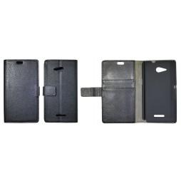 Sony Xperia E4g - Preklopna torbica (WL) - črna