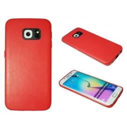 Samsung Galaxy S6 Edge - Okrasni pokrovček (43A) - rdeč
