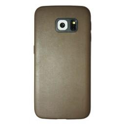 Samsung Galaxy S6 Edge - Okrasni pokrovček (43A) - rjav